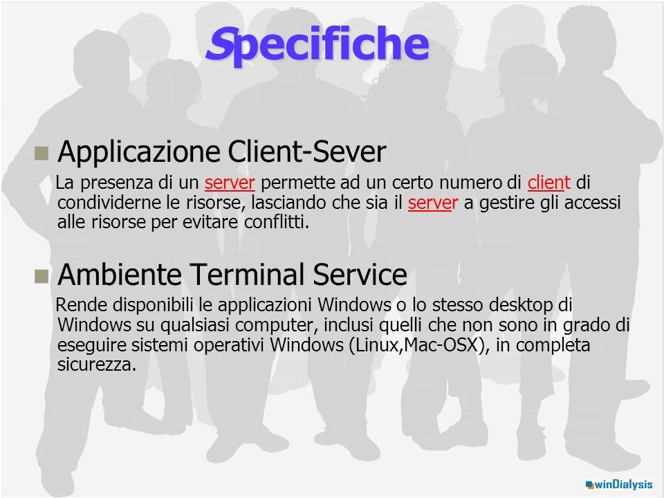 Applicazione Client-Sever La presenza di un server permette ad un certo numero di client di condividerne le risorse, lasciando che sia il server a gestire gli accessi alle risorse per evitare conflitti.