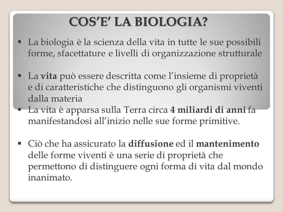 La biologia è la scienza della vita in tutte le sue possibili forme, sfacettature e livelli di organizzazione strutturale La vita può essere descritta
