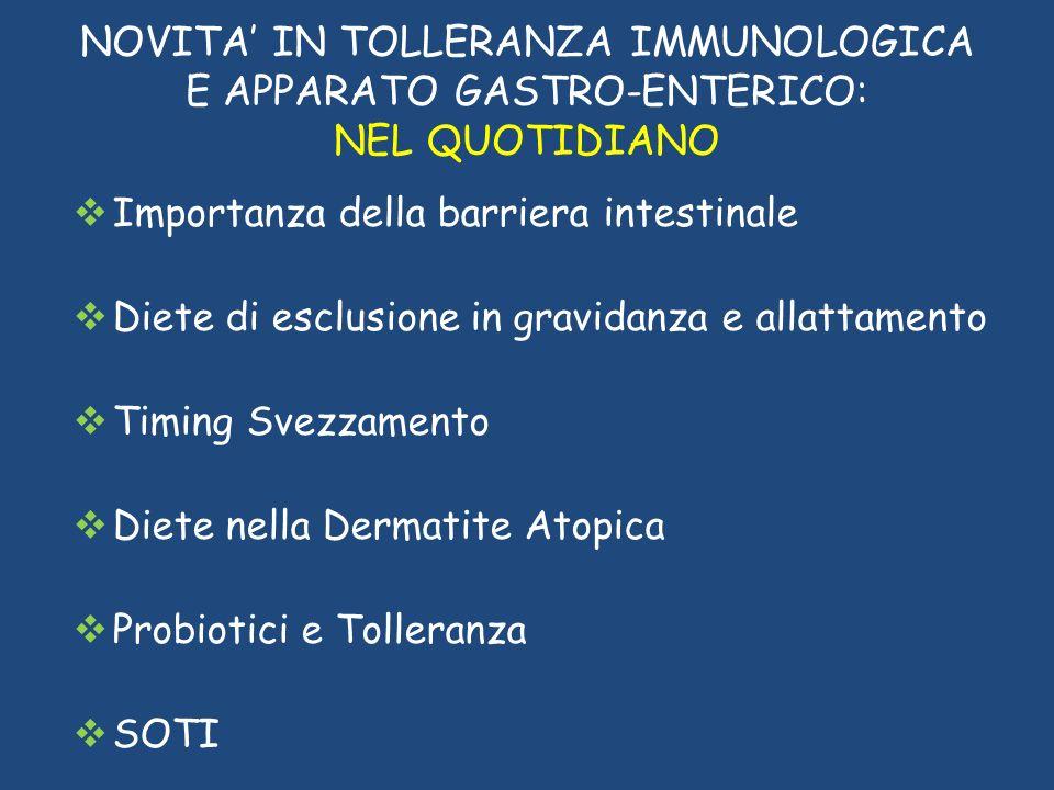 RIVOLUZIONE COPERNICANA Badina and G.Longo Current Pharmaceutical Design, 2012,18:6782-87 Dermatite atopica causa di sensibilizzazione e non effetto di allergia alimentare