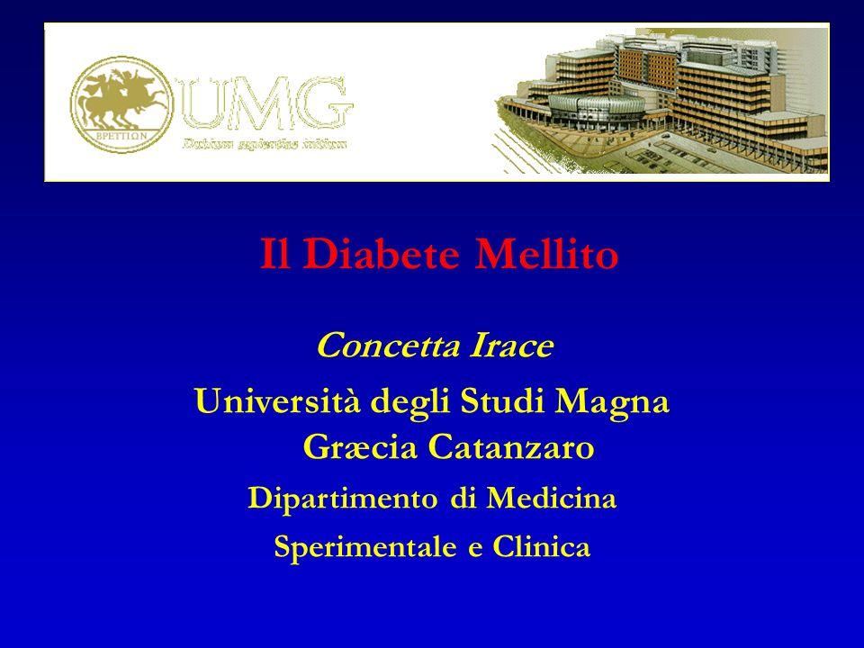 Il Diabete Mellito Concetta Irace Università degli Studi Magna Græcia Catanzaro Dipartimento di Medicina Sperimentale e Clinica