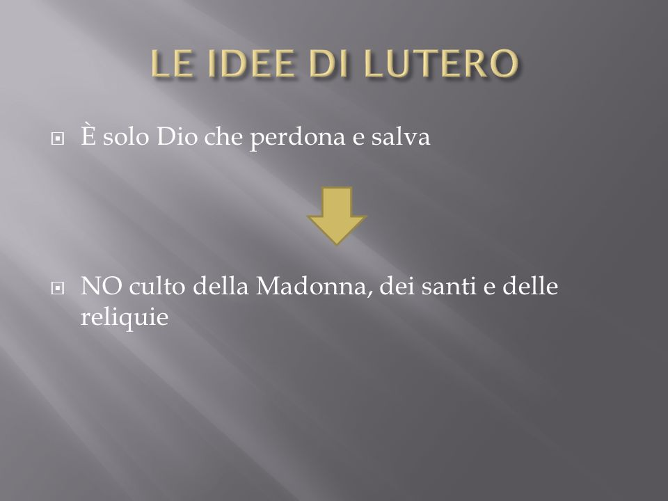 È solo Dio che perdona e salva NO culto della Madonna, dei santi e delle reliquie