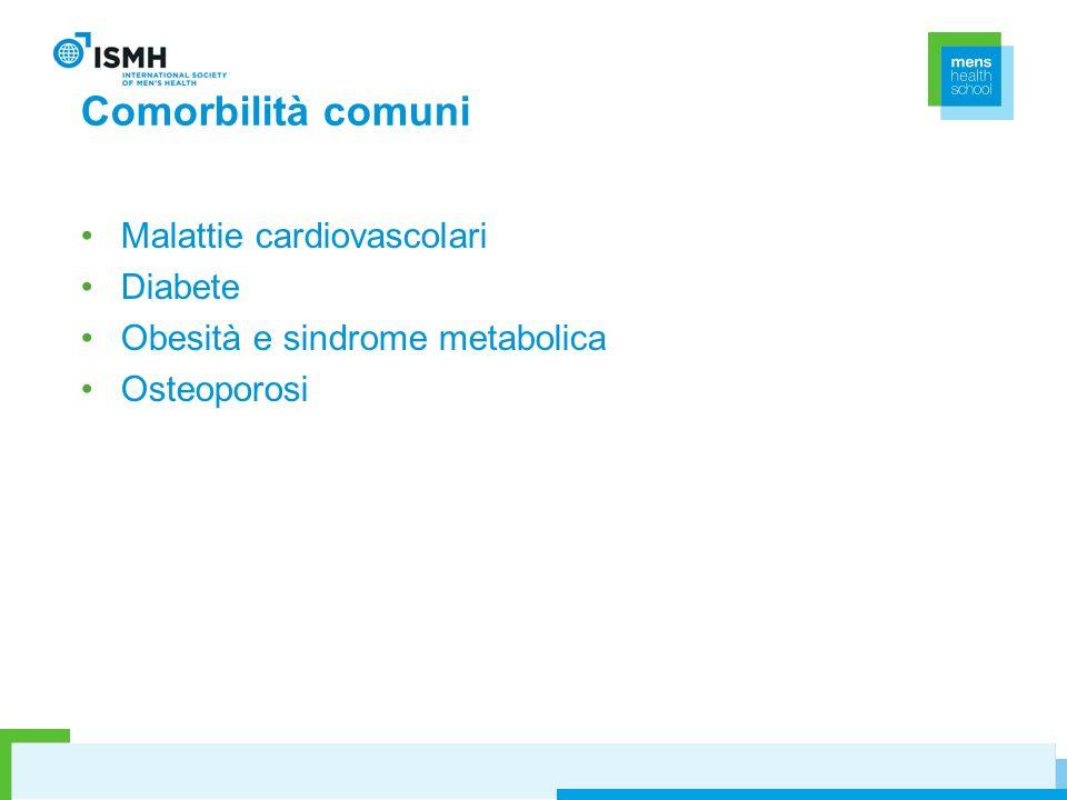 Comorbilità comuni Malattie cardiovascolari Diabete Obesità e sindrome metabolica Osteoporosi