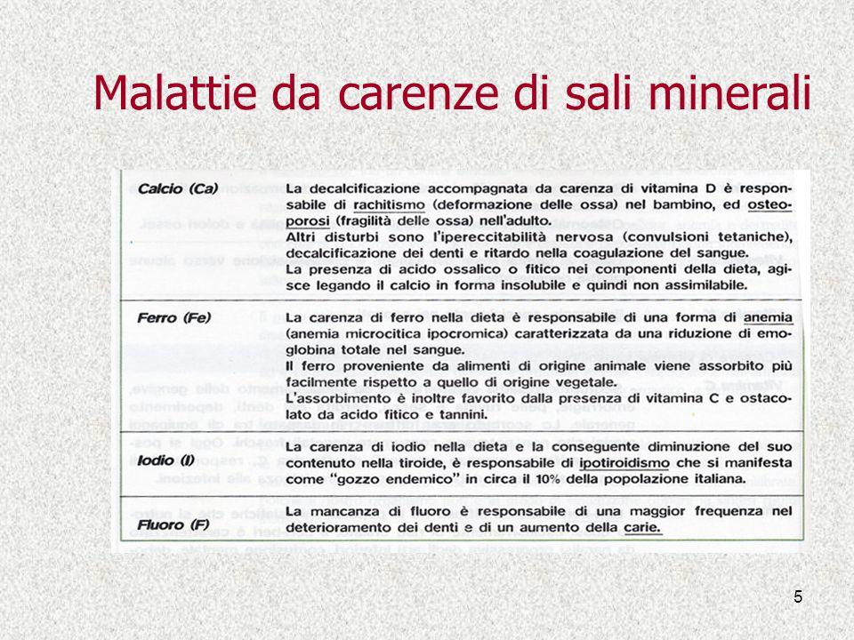5 Malattie da carenze di sali minerali