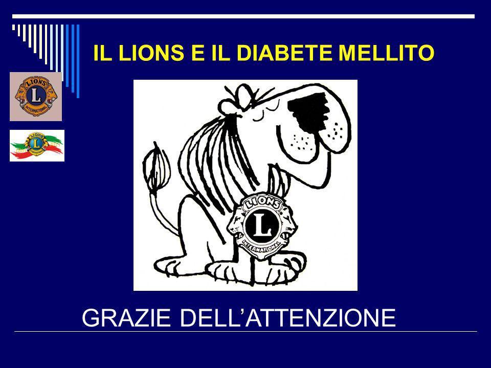 IL LIONS E IL DIABETE MELLITO GRAZIE DELLATTENZIONE