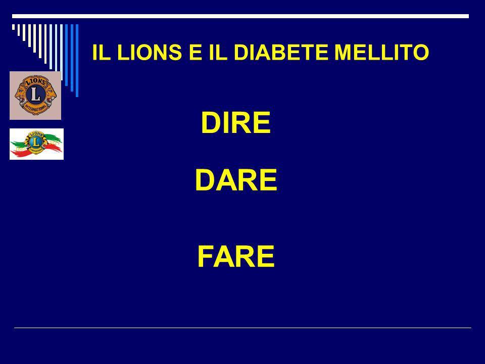 IL LIONS E IL DIABETE MELLITO DIRE DARE FARE