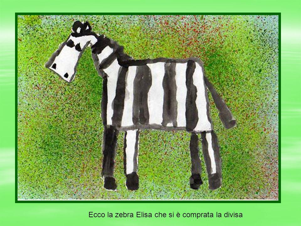 Ecco la zebra Elisa che si è comprata la divisa