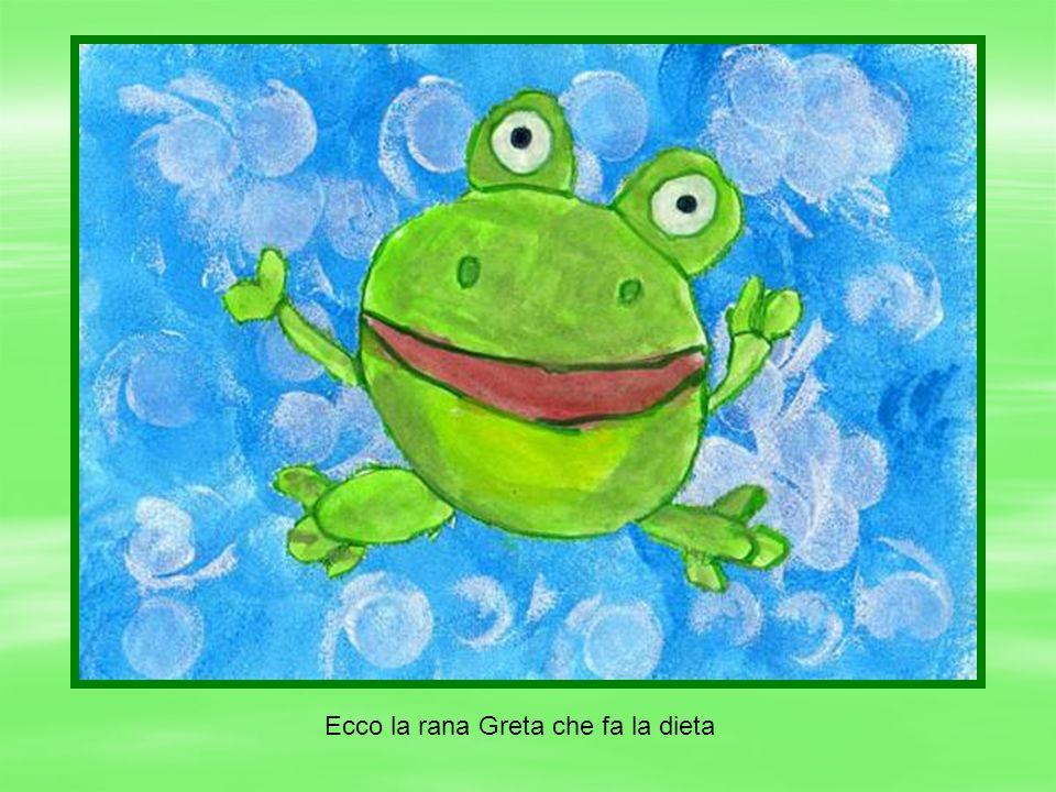 Ecco la rana Greta che fa la dieta