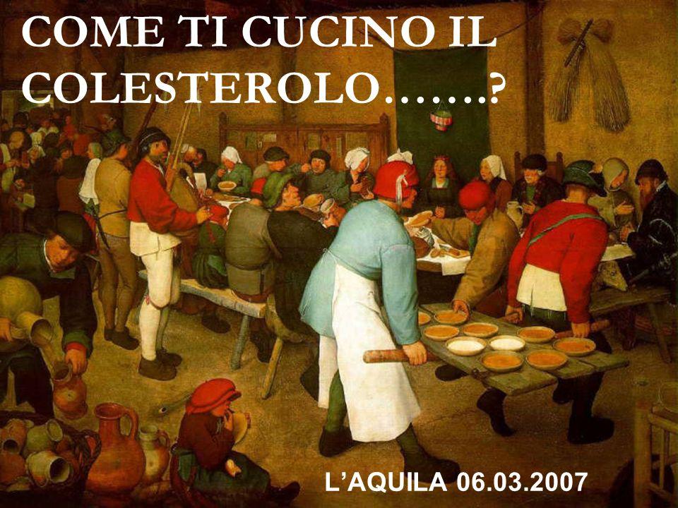 COME TI CUCINO IL COLESTEROLO…….? LAQUILA 06.03.2007