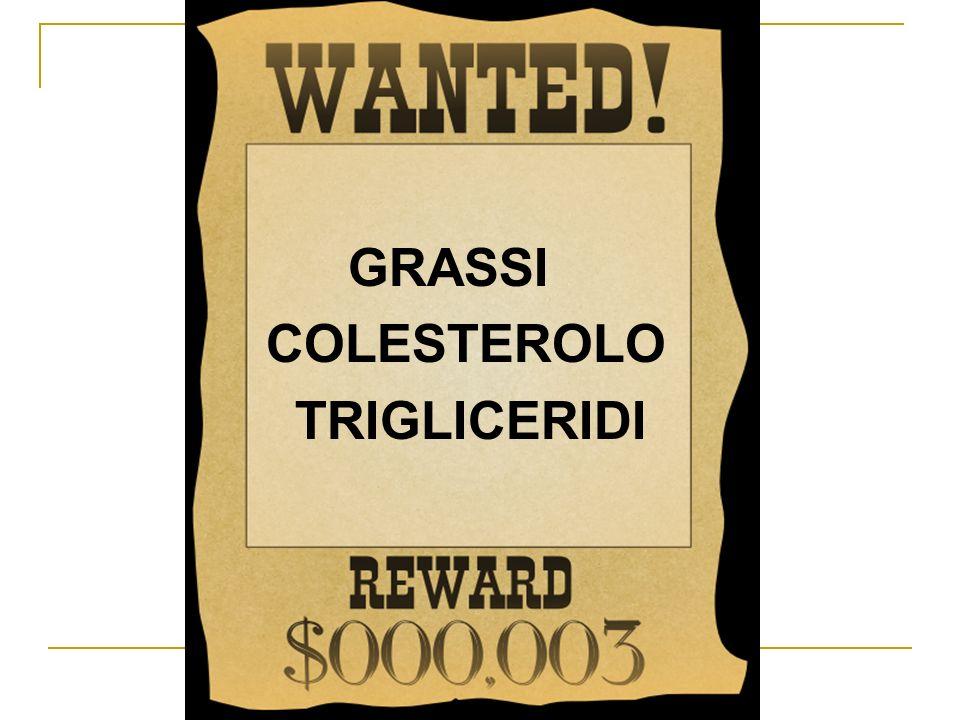 GRASSI COLESTEROLO TRIGLICERIDI