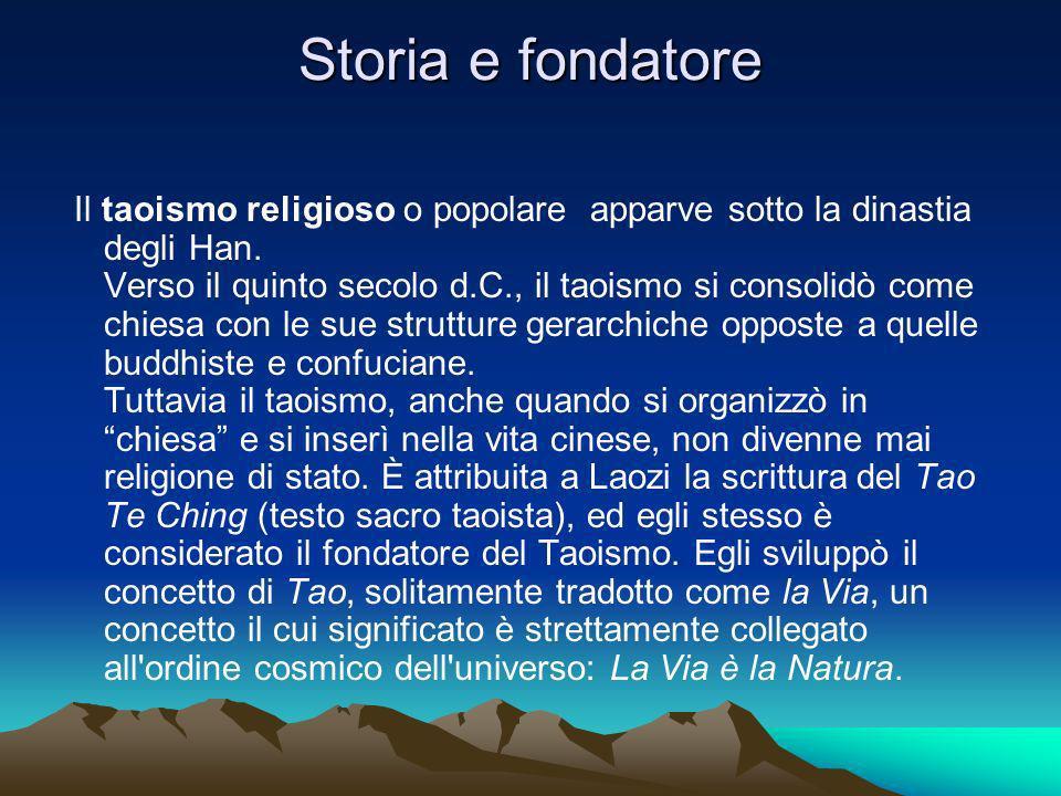 Storia e fondatore Il taoismo religioso o popolare apparve sotto la dinastia degli Han.