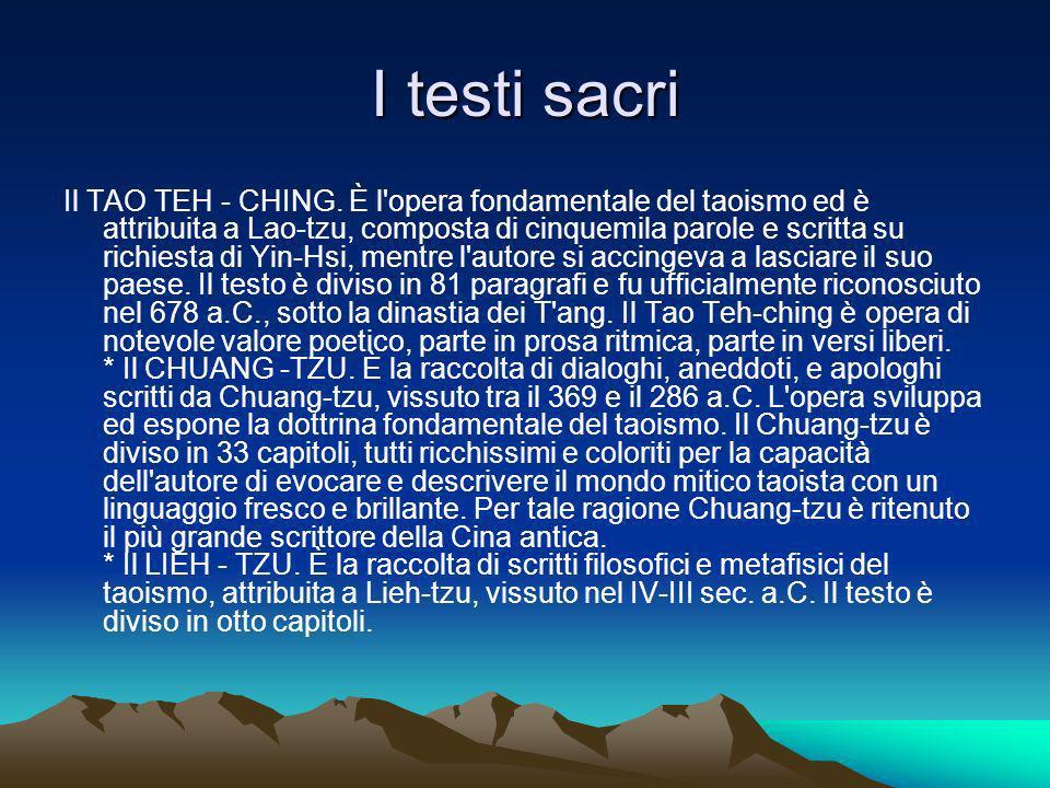 I testi sacri Il TAO TEH - CHING.