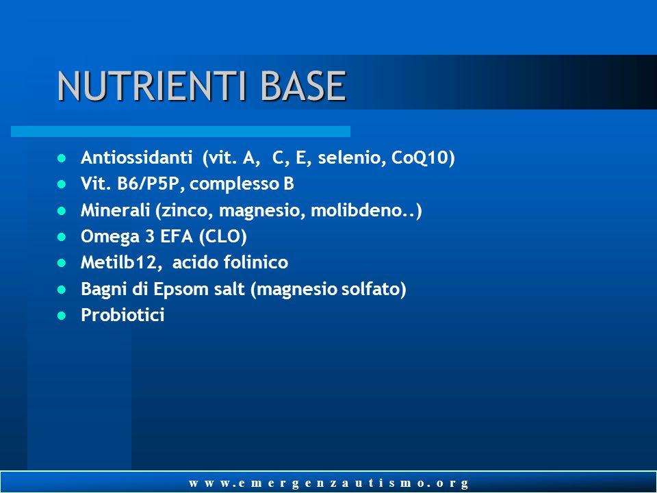 w w w. e m e r g e n z a u t i s m o. o r g RIPULIRE LINTESTINO Considerate la necessità di contattare un gastroenterologo rinomato Considerate la som