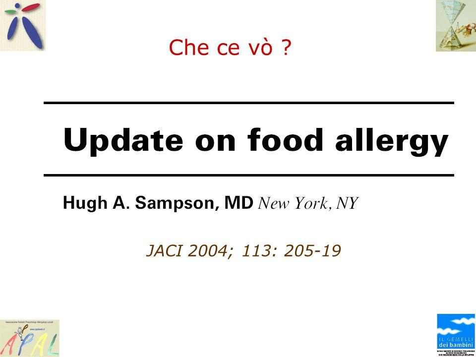 La Luce Ugo Sampson.Update on food allergy.