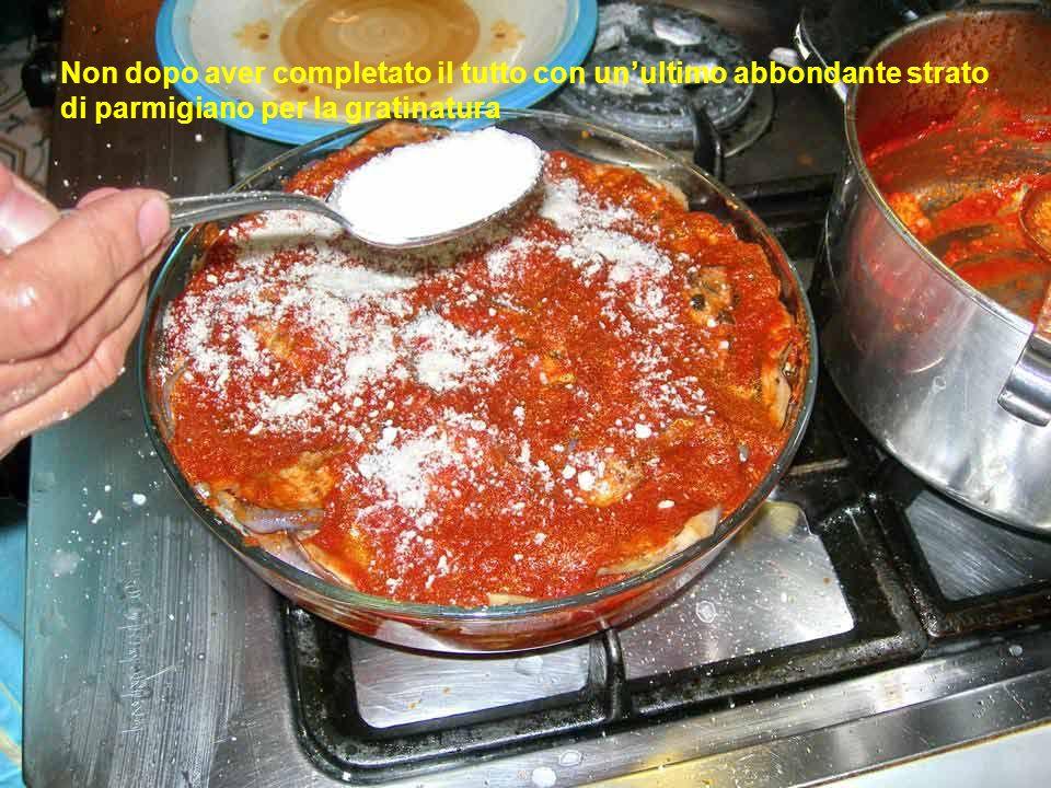 Proseguiamo fino ad esaurimento degli ingredienti e poi subito in forno caldo a 180 °