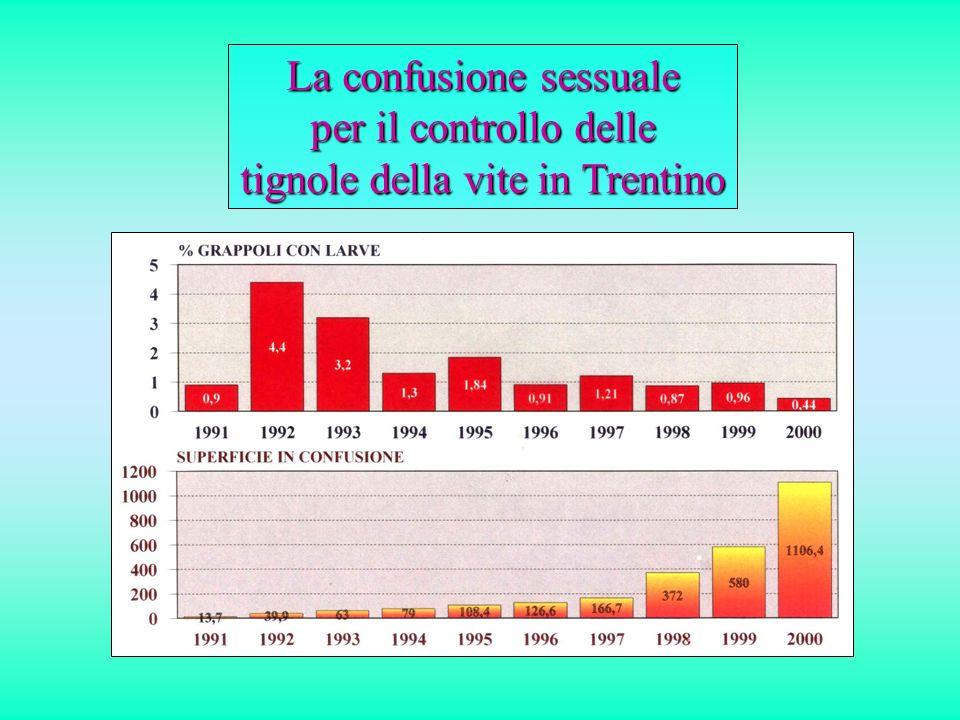 La confusione sessuale per il controllo delle tignole della vite in Trentino