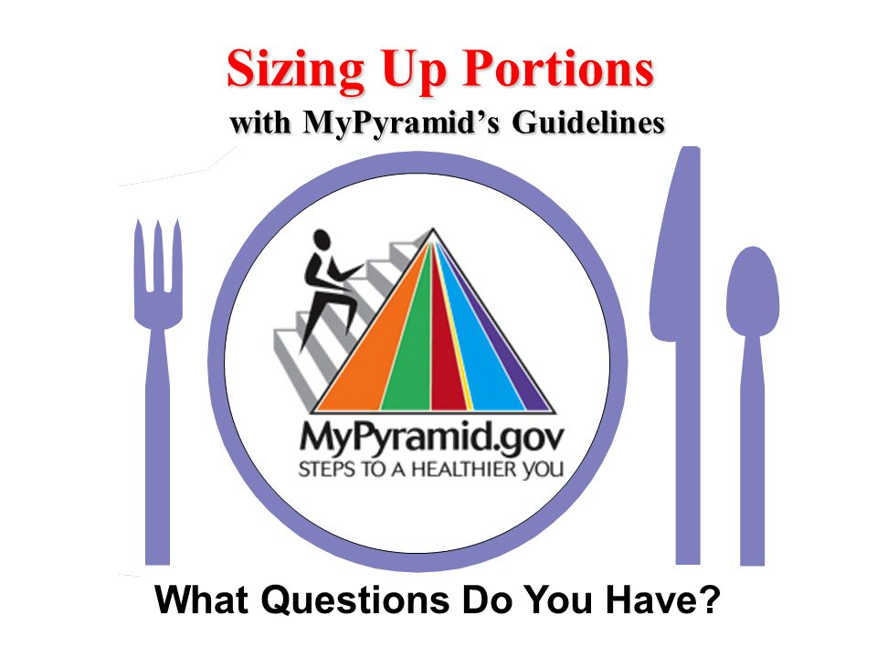 What Questions Do You Have? Sizing Up Portions with MyPyramids Guidelines