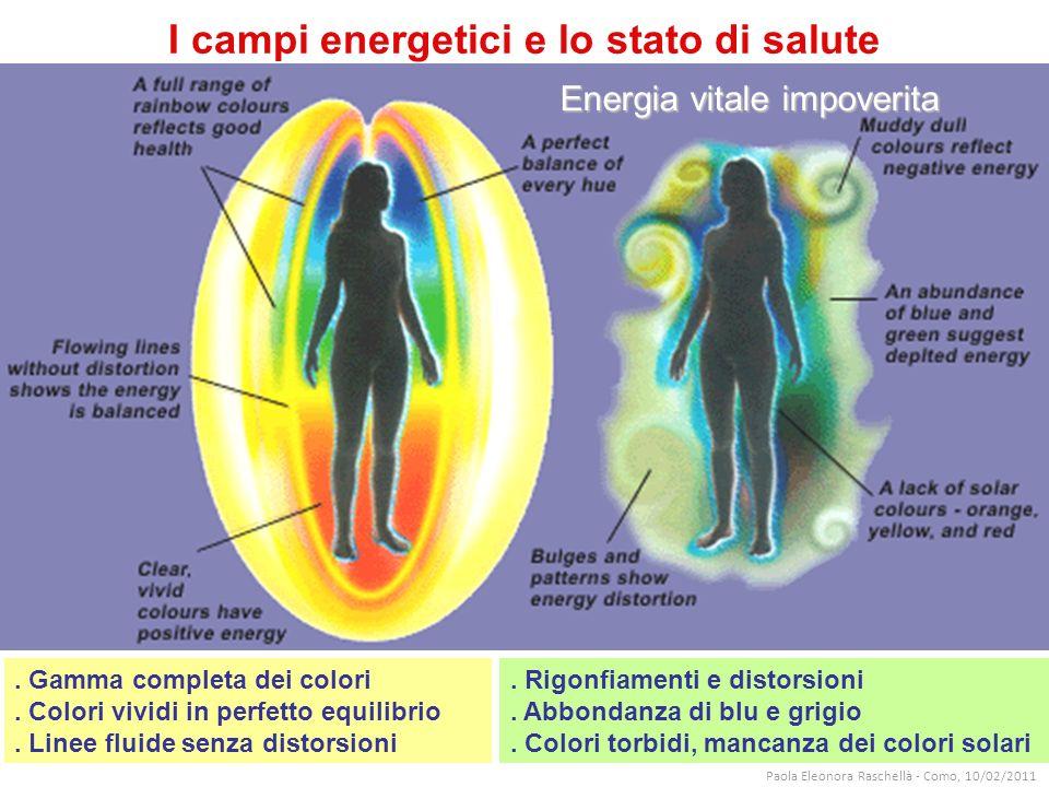 I campi energetici e lo stato di salute.Gamma completa dei colori.
