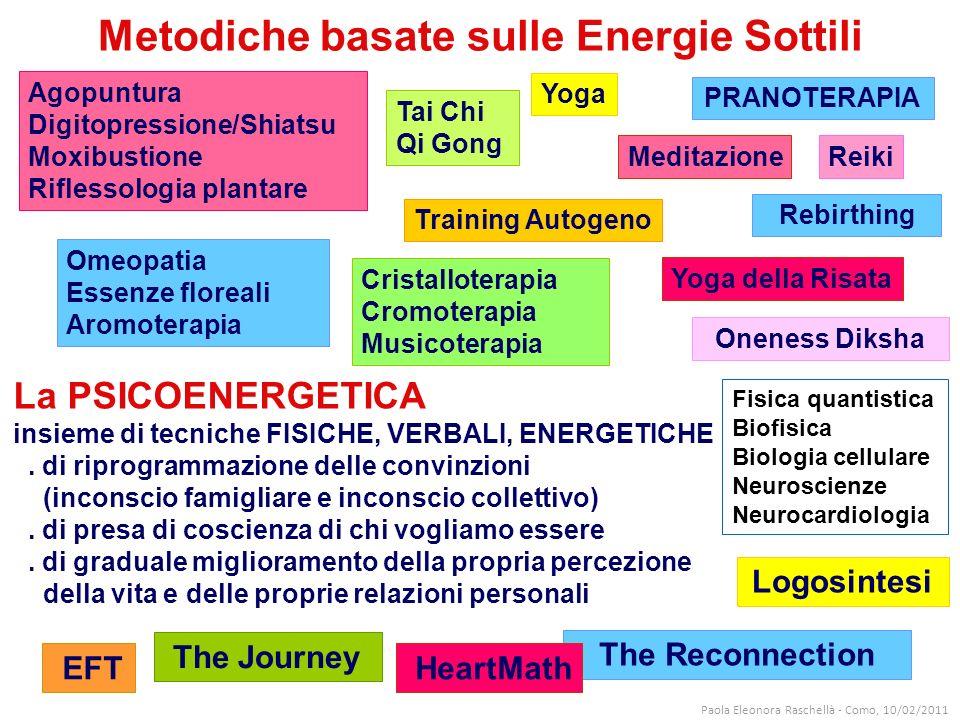 La PSICOENERGETICA insieme di tecniche FISICHE, VERBALI, ENERGETICHE.