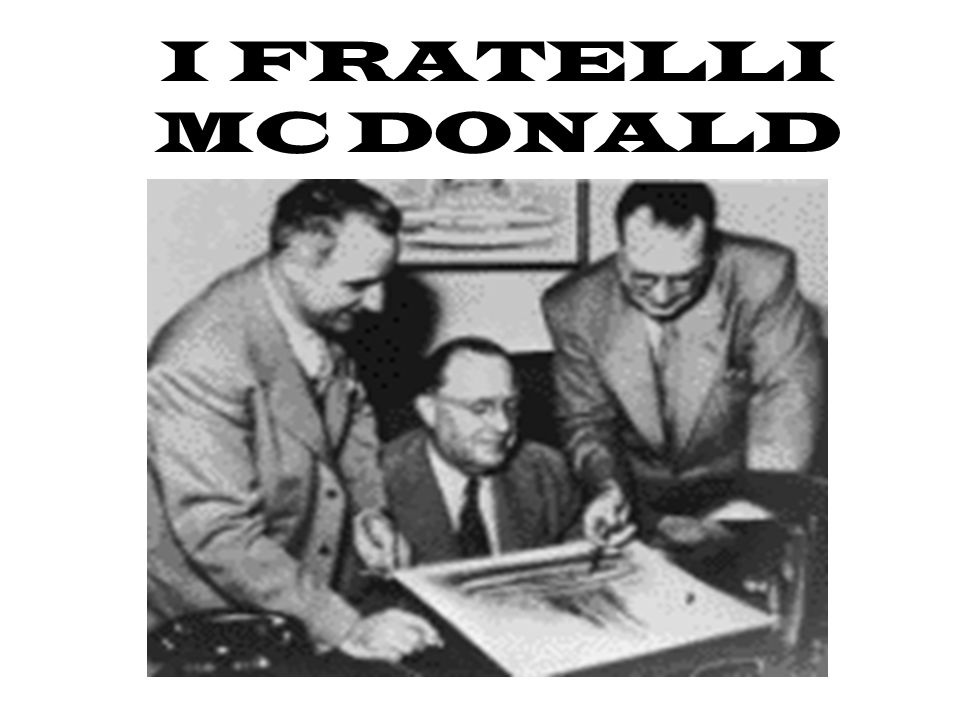 La storia comincia a S.Bernardino in California, nel 1954.Ray Kroc, uomo di affari che vendeva enormi frullatori chiamati MULTIMIXER.egli viene contat