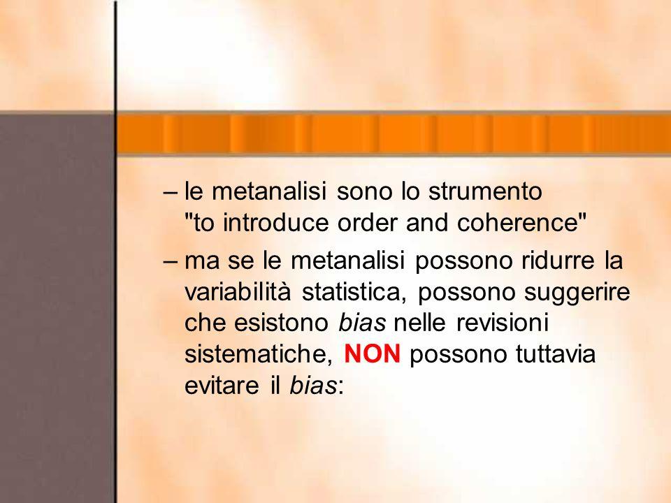 –le metanalisi sono lo strumento