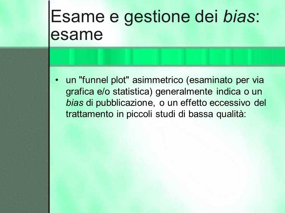 Esame e gestione dei bias: esame un