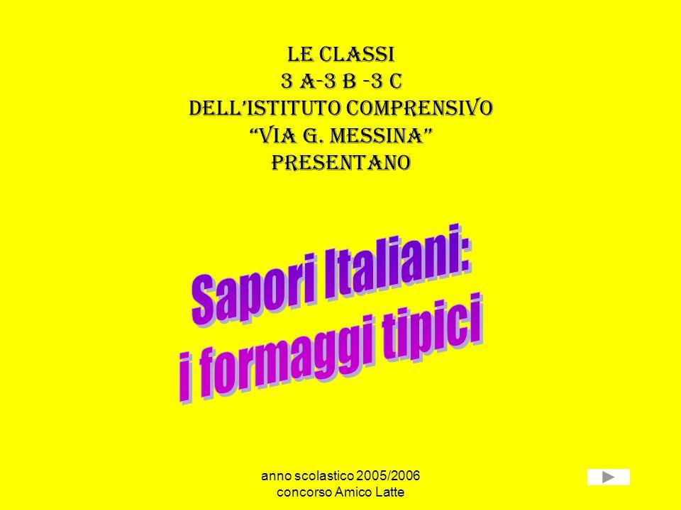 anno scolastico 2005/2006 concorso Amico Latte le classi 3 a-3 b -3 c dellistituto comprensivo via g. messina presentano
