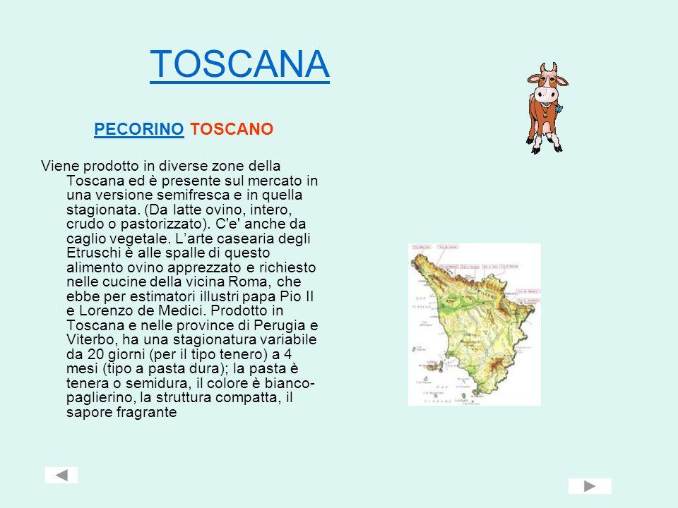 TOSCANA PECORINOPECORINO TOSCANO Viene prodotto in diverse zone della Toscana ed è presente sul mercato in una versione semifresca e in quella stagion