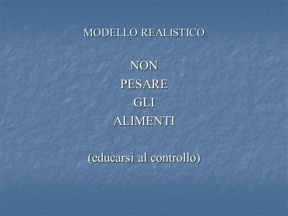 MODELLO REALISTICO NONPESAREGLIALIMENTI (educarsi al controllo)
