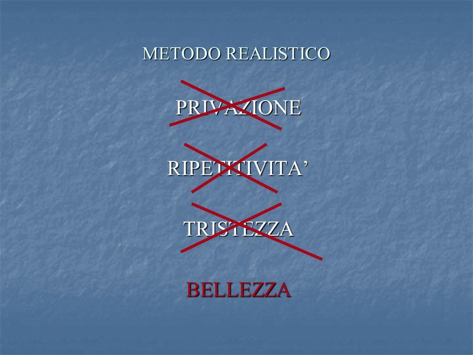 METODO REALISTICO PRIVAZIONERIPETITIVITATRISTEZZABELLEZZA