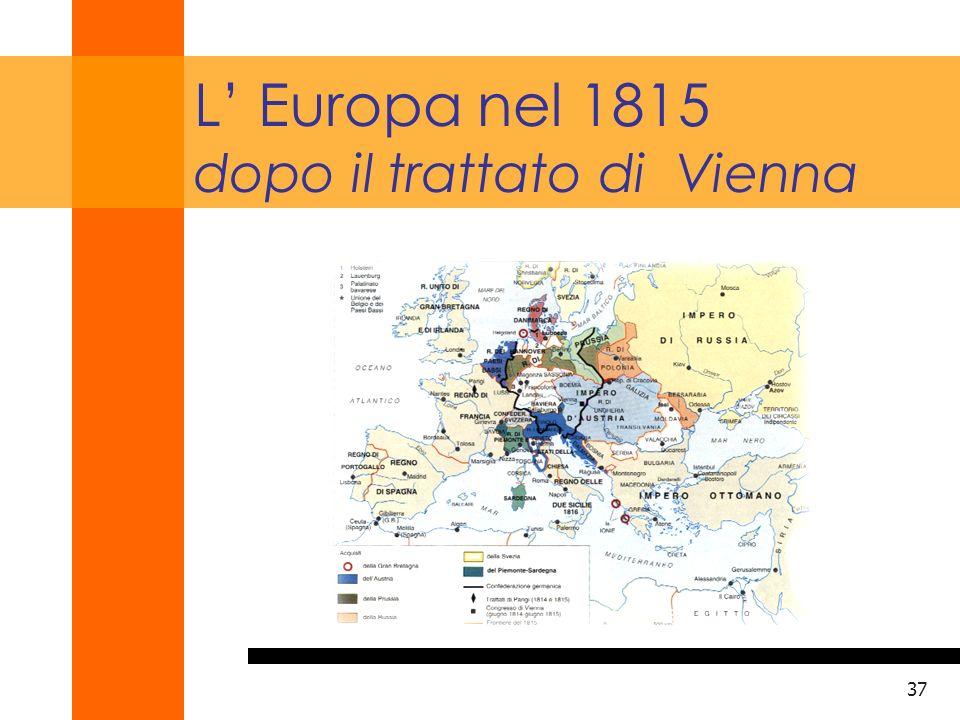 38 LItalia della Restaurazione 1815-1848