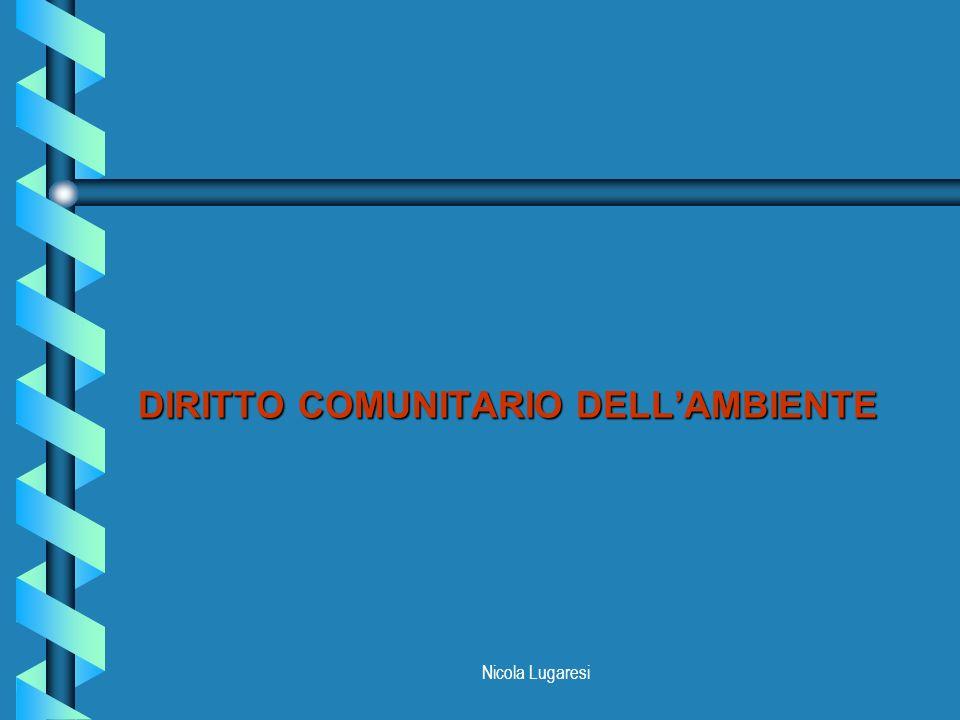 Nicola Lugaresi PRINCIPI PROCEDURALI b Sussidiarietà (art.2, UE; art.5, CE) b Proporzionalità (art.5, CE) b Avvicinamento delle legislazioni (artt.3,95, CE) b Poteri impliciti (art.308, CE) b Progresso scientifico e tecnologico (artt.3,95, CE) b Integrazione tra politiche (artt.3, 6 CE)