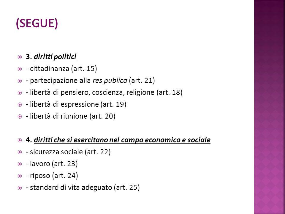 3. diritti politici - cittadinanza (art. 15) - partecipazione alla res publica (art.