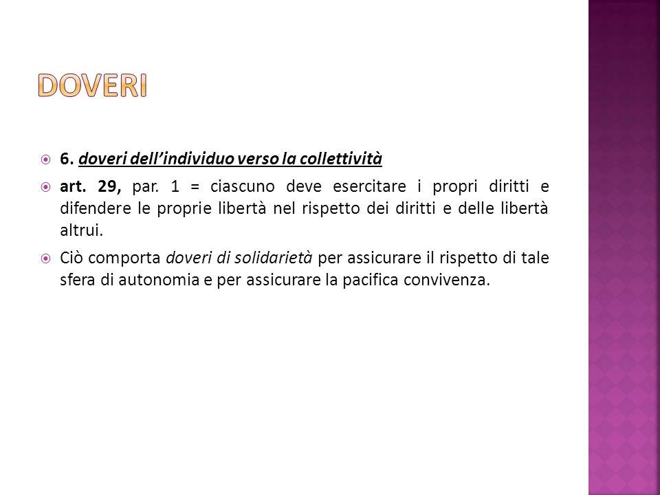 6. doveri dellindividuo verso la collettività art.