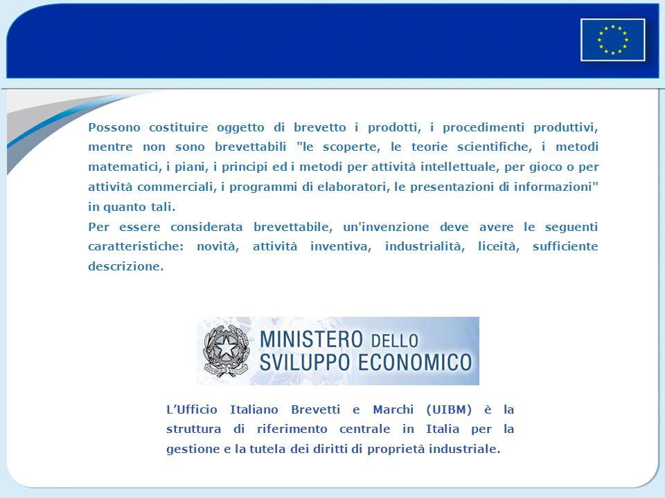 LUfficio Italiano Brevetti e Marchi (UIBM) è la struttura di riferimento centrale in Italia per la gestione e la tutela dei diritti di proprietà industriale.