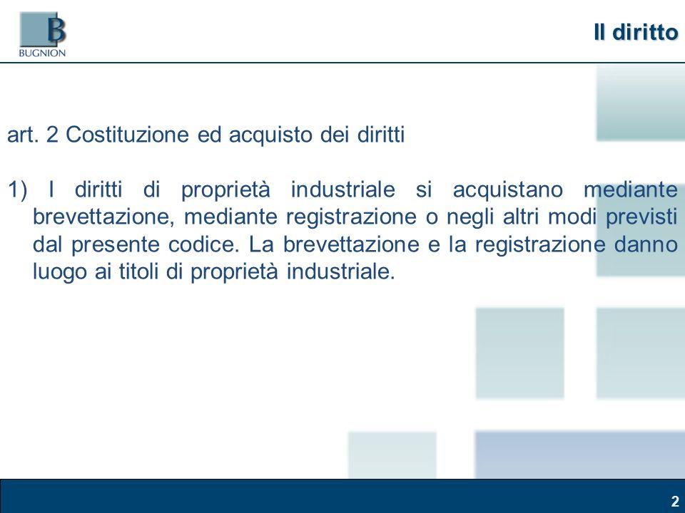 Corso Brand Naming – Modena, 30 marzo 2011 2 Il diritto art.