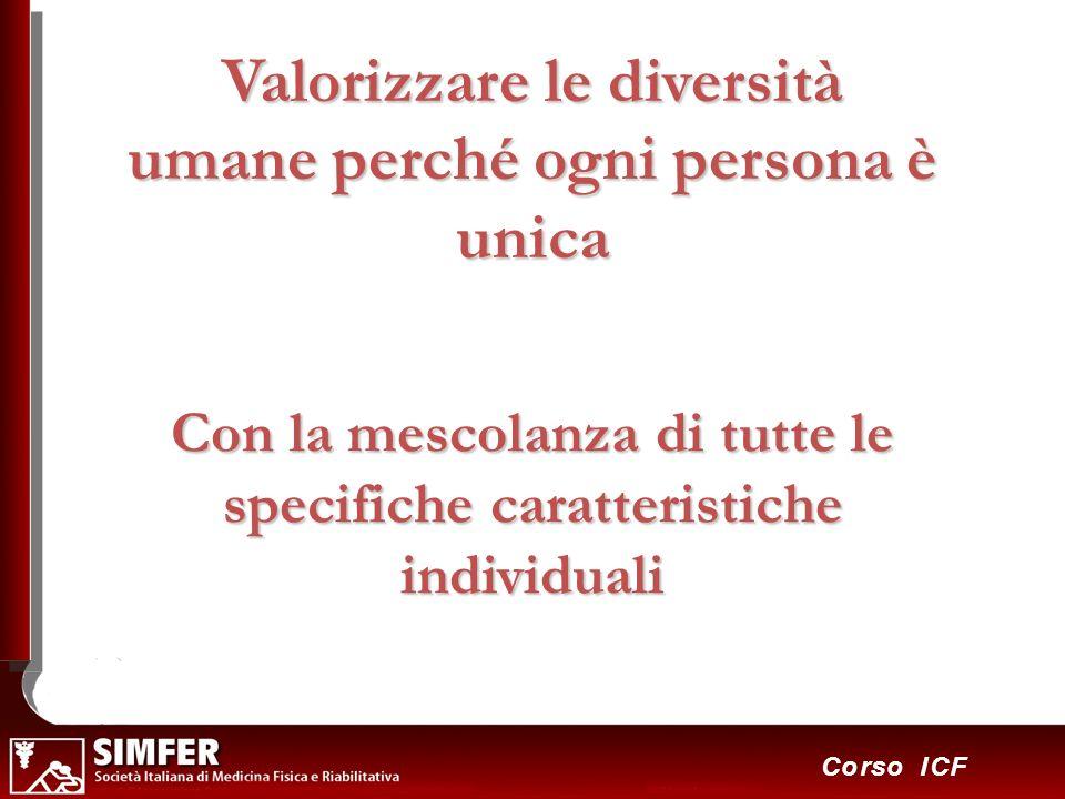 10 Corso ICF Valorizzare le diversità umane perché ogni persona è unica Con la mescolanza di tutte le specifiche caratteristiche individuali
