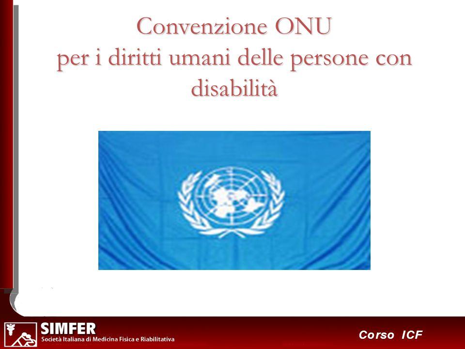 19 Corso ICF Convenzione ONU per i diritti umani delle persone con disabilità