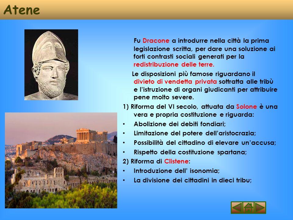 Sparta Sparta è attribuita al mitico legislatore Licurgo (vissuto nella metà del VII secolo a.C.) e mostra un orientamento conservatore.