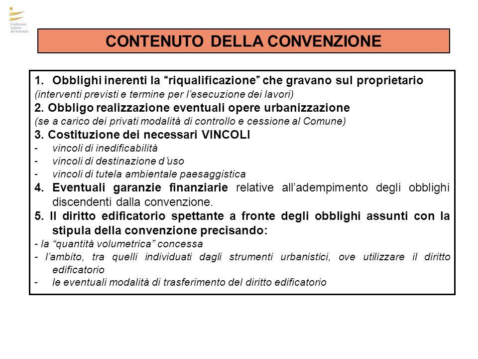 La Convenzione costitutiva del diritto edificatorio incentivante deve essere trascritta nei RR.II.