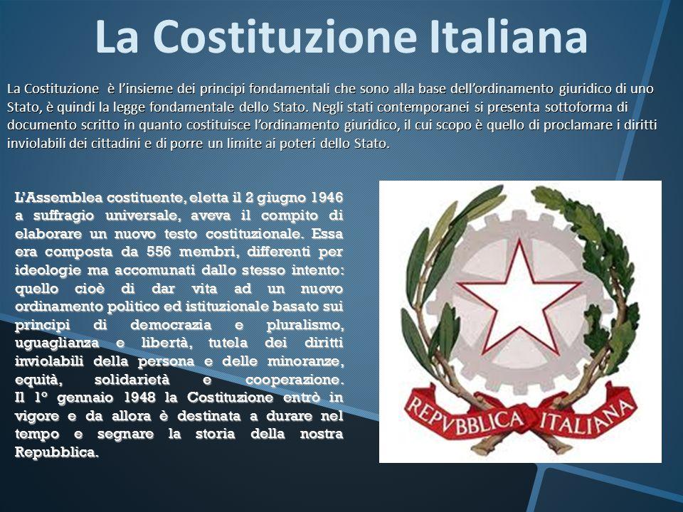 LAssemblea costituente, eletta il 2 giugno 1946 a suffragio universale, aveva il compito di elaborare un nuovo testo costituzionale. Essa era composta