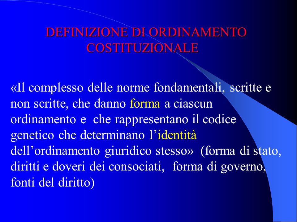 Il diritto costituzionale è il tronco dal quale si dipanano gli altri rami del diritto.