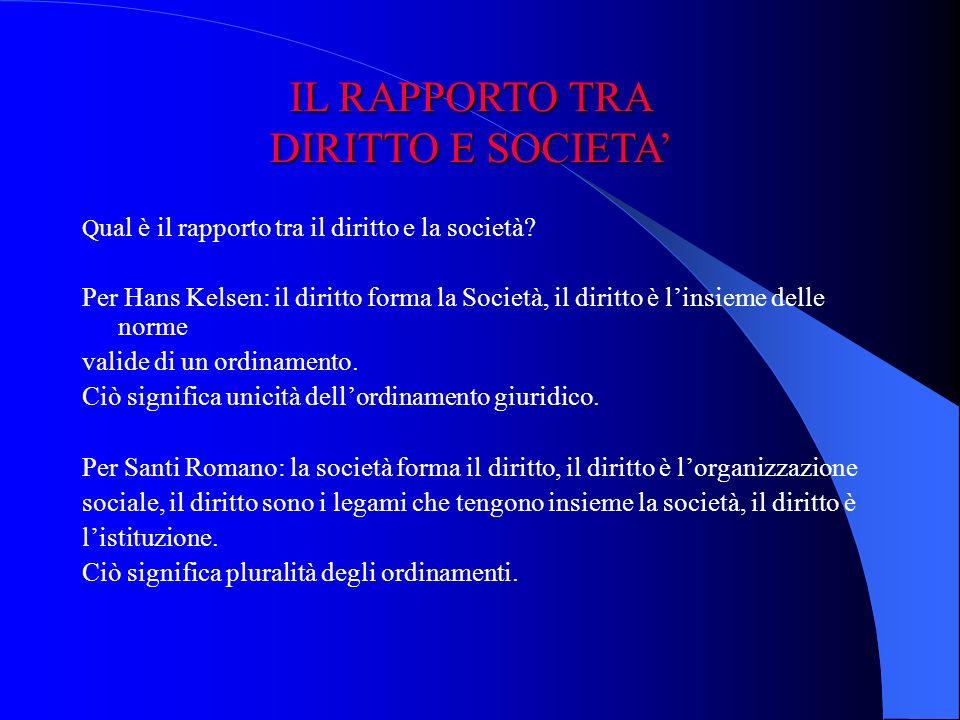 TEORIE DEL DIRITTO TEORIE DEL DIRITTO Teorie normativistiche (Kelsen)Kelsen «una società ha un ordinamento» Teorie istituzionalistiche (Romano)Romano «una società organizzata è un ordinamento»