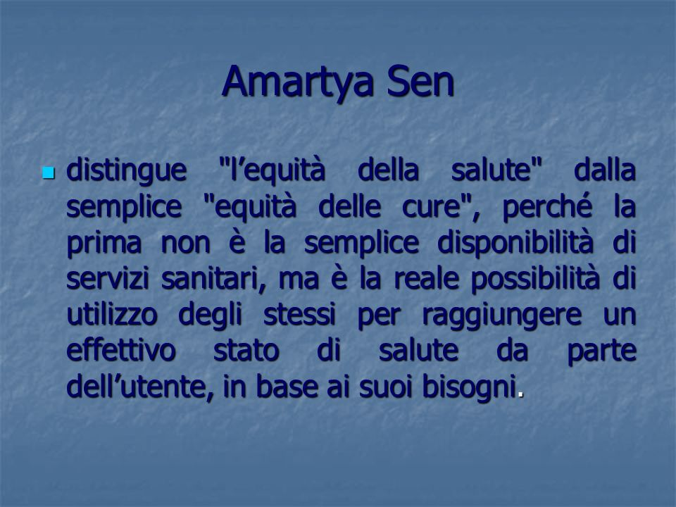 Amartya Sen distingue