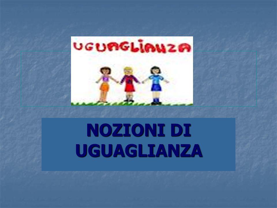 NOZIONI DI UGUAGLIANZA