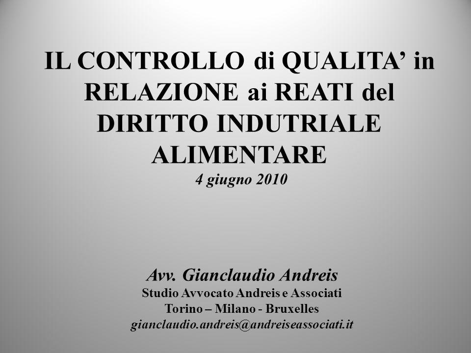 QUALITA Caratteristica del prodottoart.2 D. Lgs.