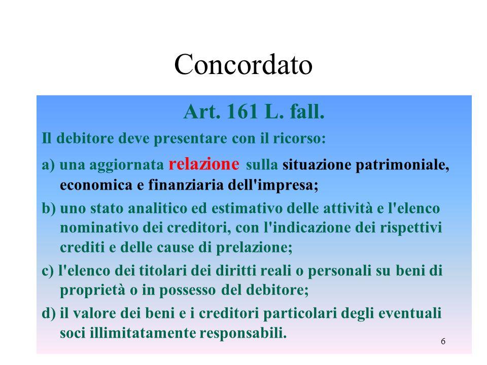 Concordato Art.161 L. fall.