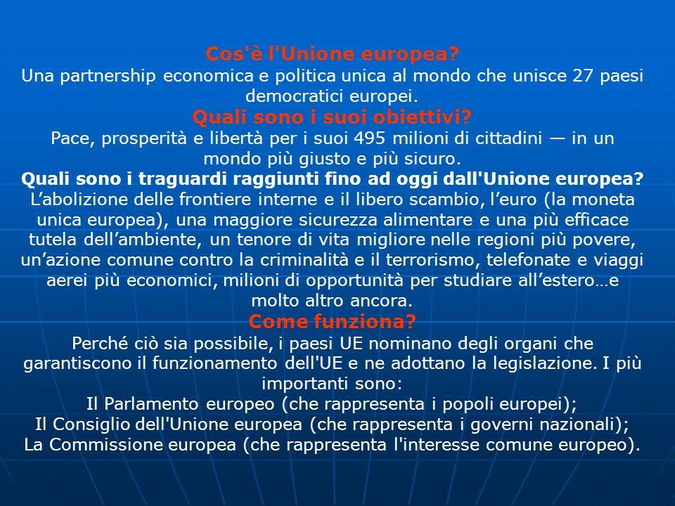 Cos è l Unione europea.