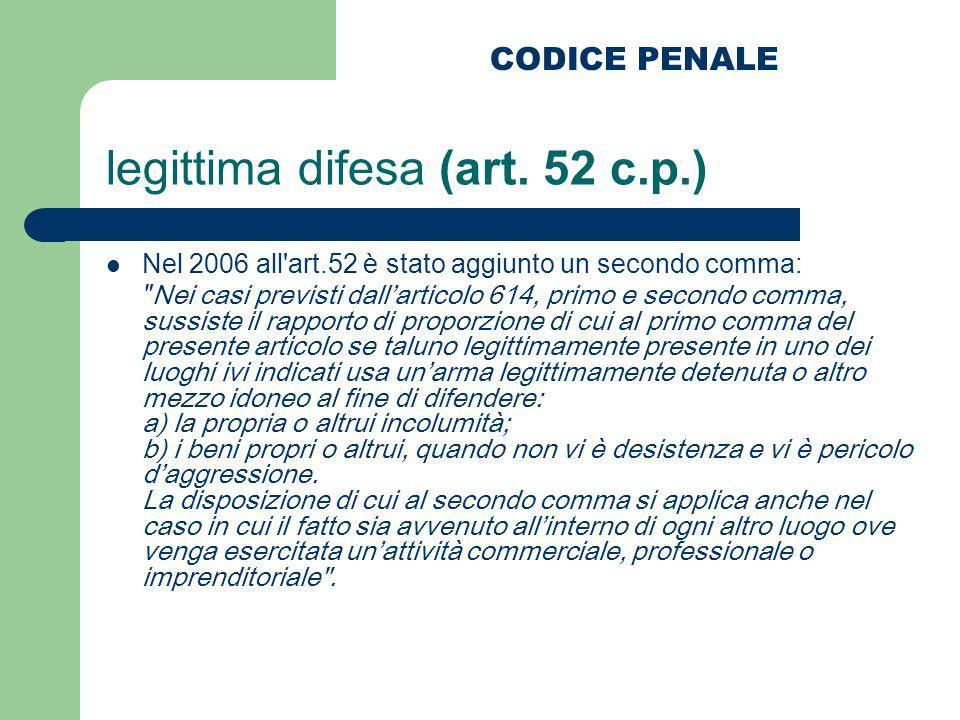 Nel 2006 all'art.52 è stato aggiunto un secondo comma:
