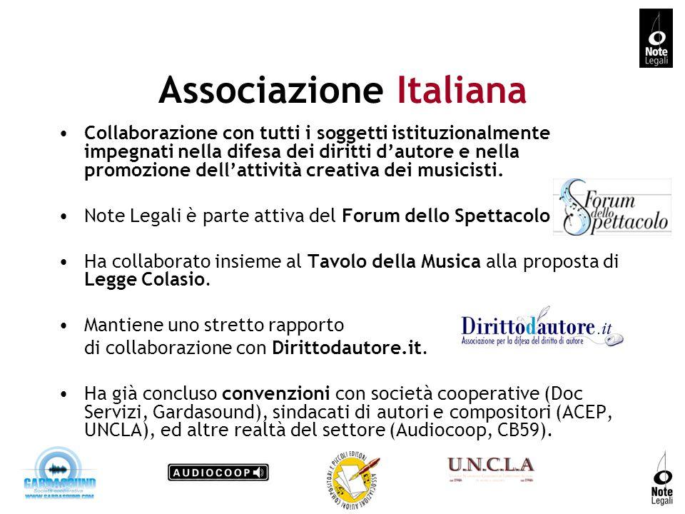 Associazione Italiana Collaborazione con tutti i soggetti istituzionalmente impegnati nella difesa dei diritti dautore e nella promozione dellattività