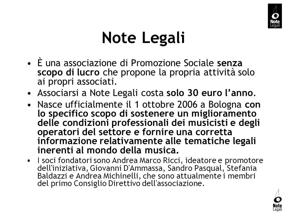 Note Legali È una associazione di Promozione Sociale senza scopo di lucro che propone la propria attività solo ai propri associati. Associarsi a Note